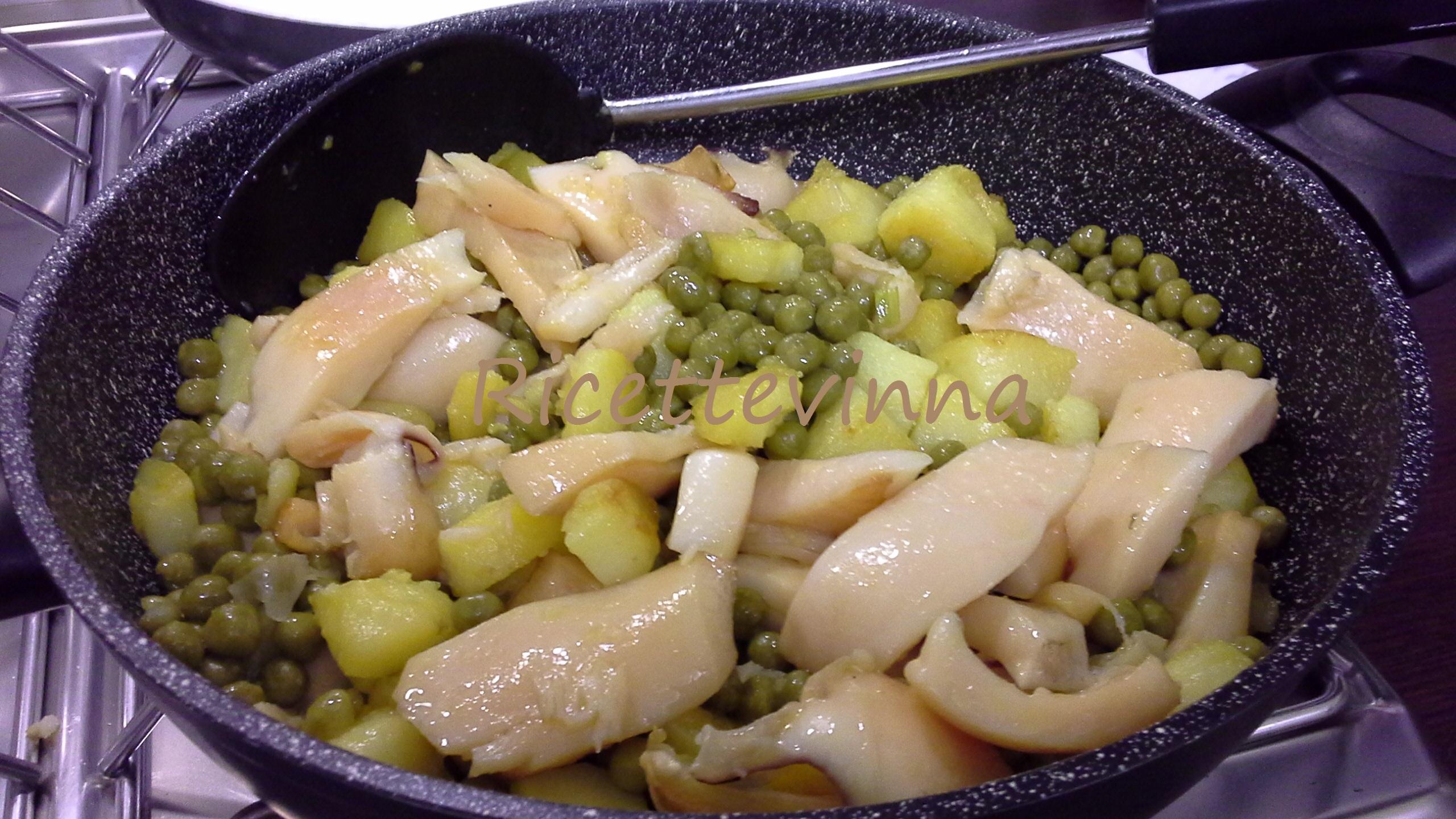 seppie patate e piselli | ricette vinna - Come Cucinare Seppie E Piselli